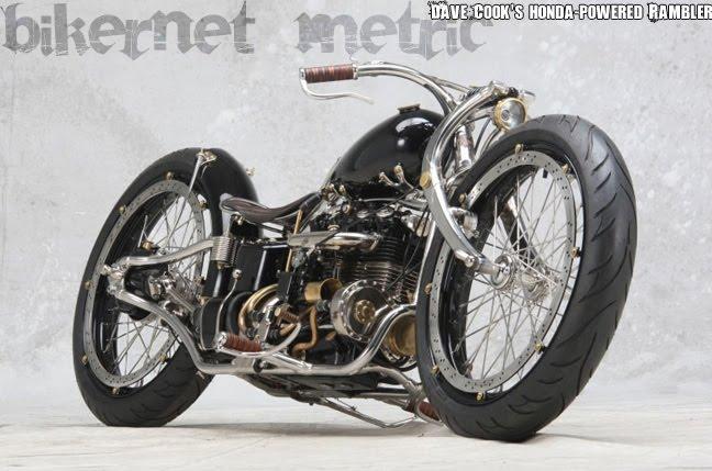 Dave Cook Rambler on Motorcycle Honda Chopper Wiring