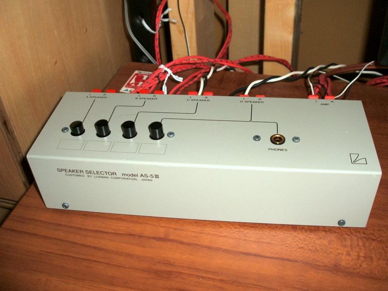 PCで音楽: (自作)アンプ・スピーカー切替機