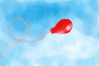 eternal thinker red balloon. Black Bedroom Furniture Sets. Home Design Ideas