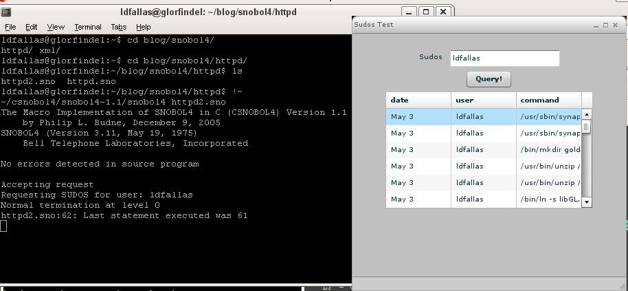 Macro implementation of SNOBOL4 in C