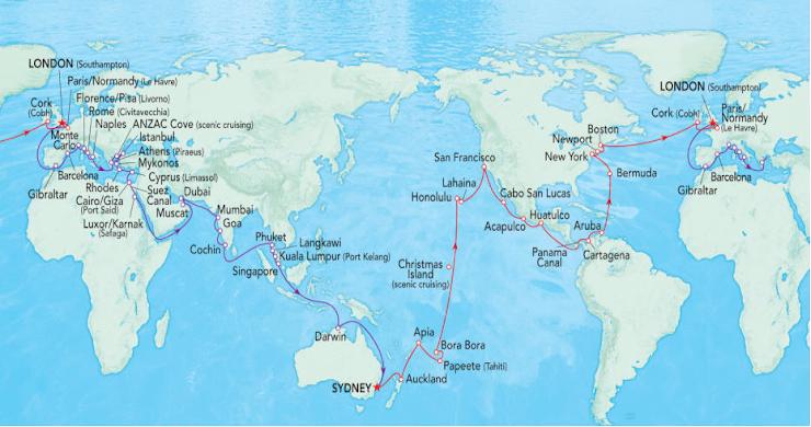 Bora Bora World Map