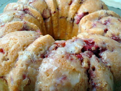 Strawberry Yogurt Bundt Cake