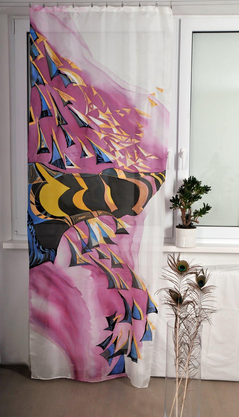 Dgm-art: SILK: Hand Painted Curtain