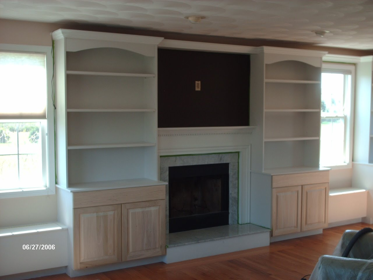 Bookcase Built in Cabinets around Fireplace