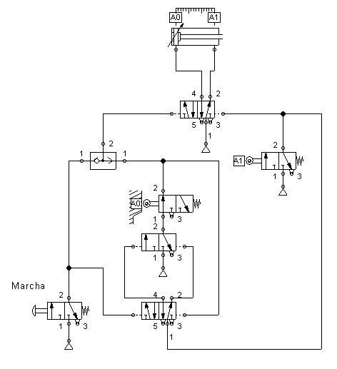Automatización Industrial: Ejemplos Neumáticos (4)