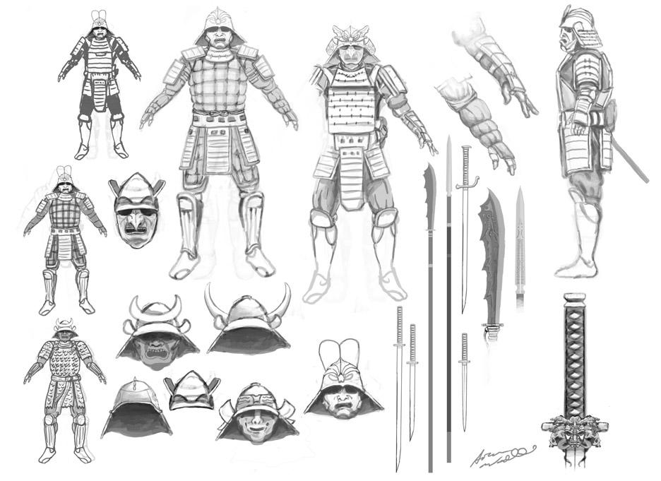 Woodard Illustration: Some Samurai Fun