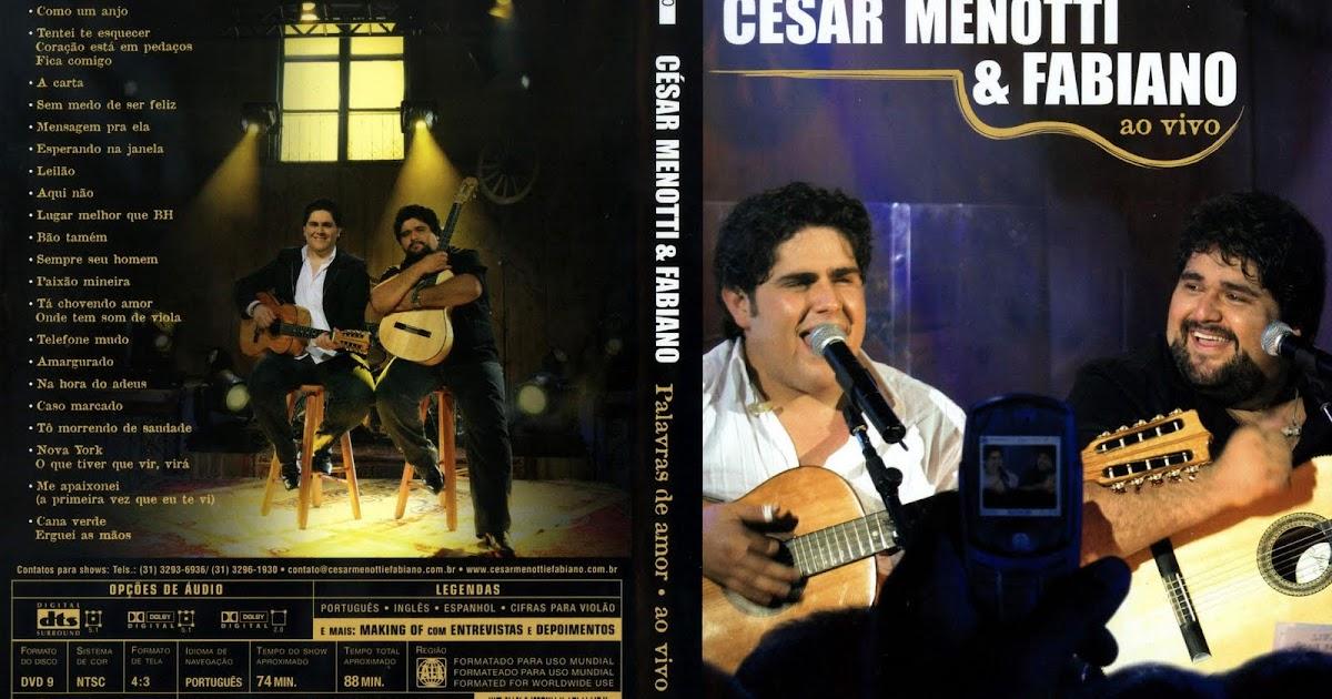 dvd cesar menotti e fabiano 2010