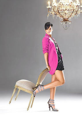 rihanna, instyle magazine, pink blazer