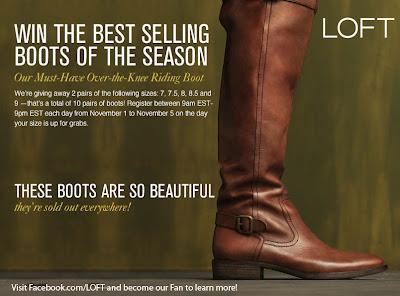 LOFT Boot Giveaway!