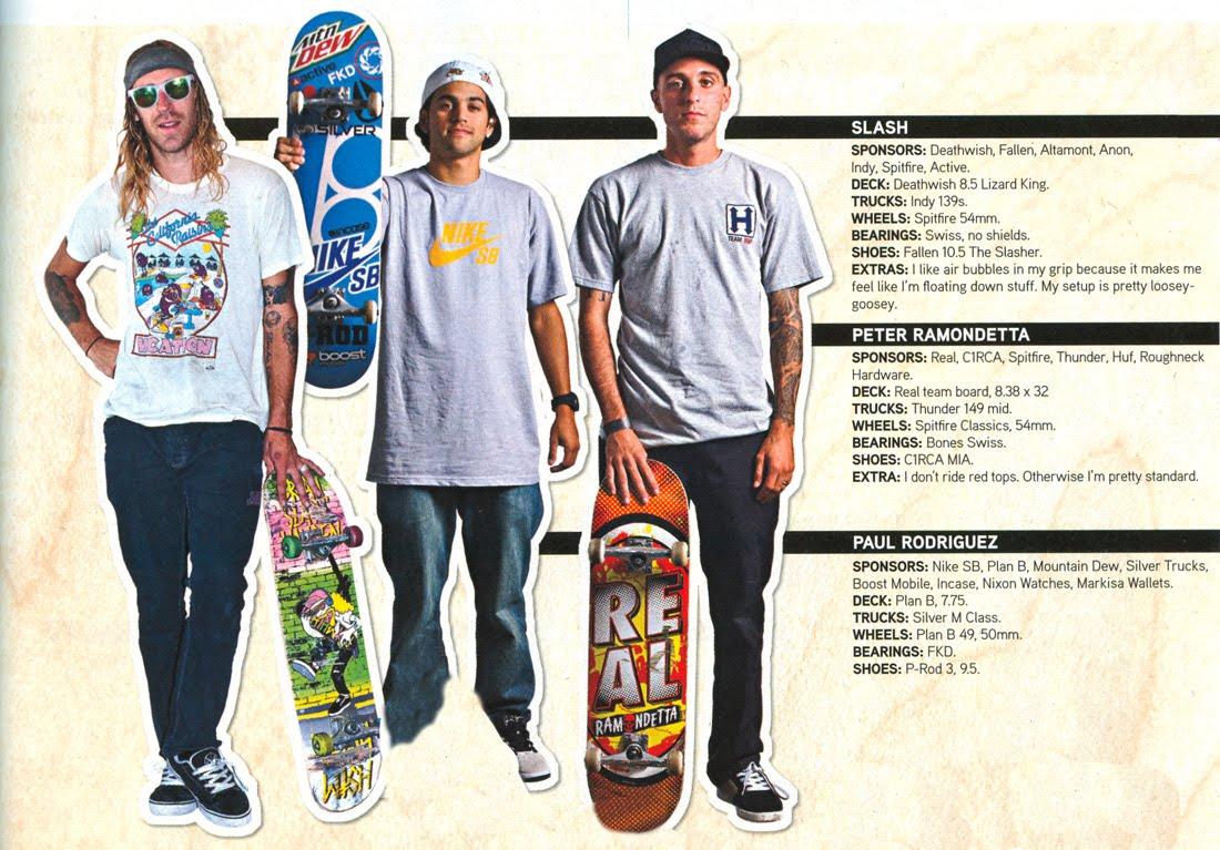 366191a11e5 Lo que monta cada uno y cada cual .. en la revista de este mes de  Transworld Skateboard.