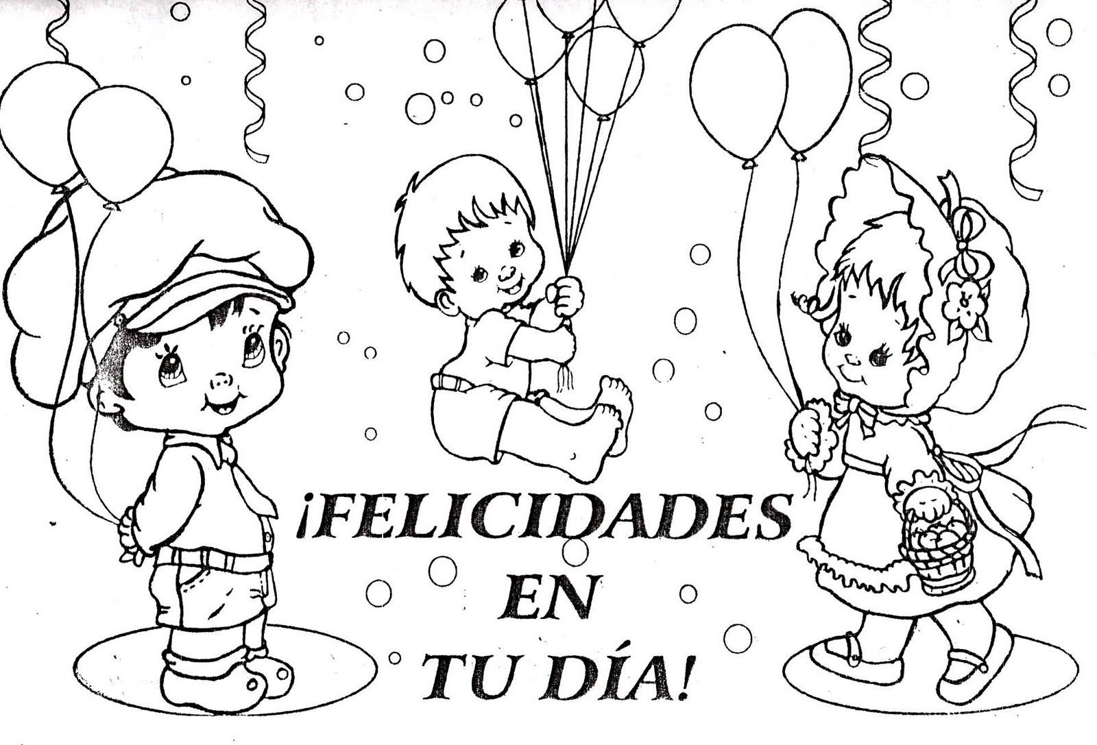 Niño Dibujo Para Colorear: IMAGENES GRATIS: DIA DEL NIÑO PARA COLOREAR