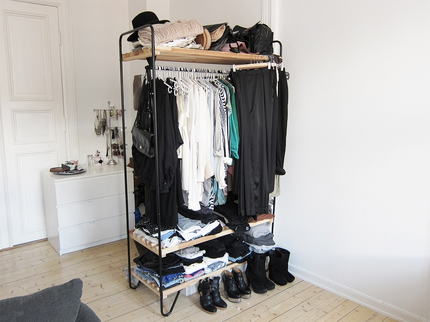Diy wardrobe rehab project step 4 organising your - Room with no closet ...