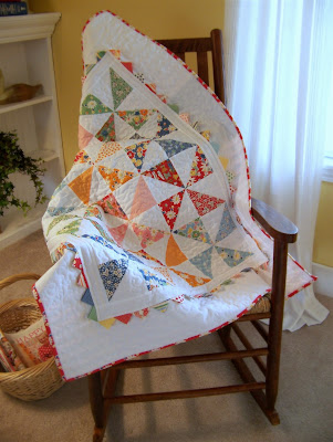 Pinwheel Baby Quilt at Moda Bake shop by Jodi at Simply This and That