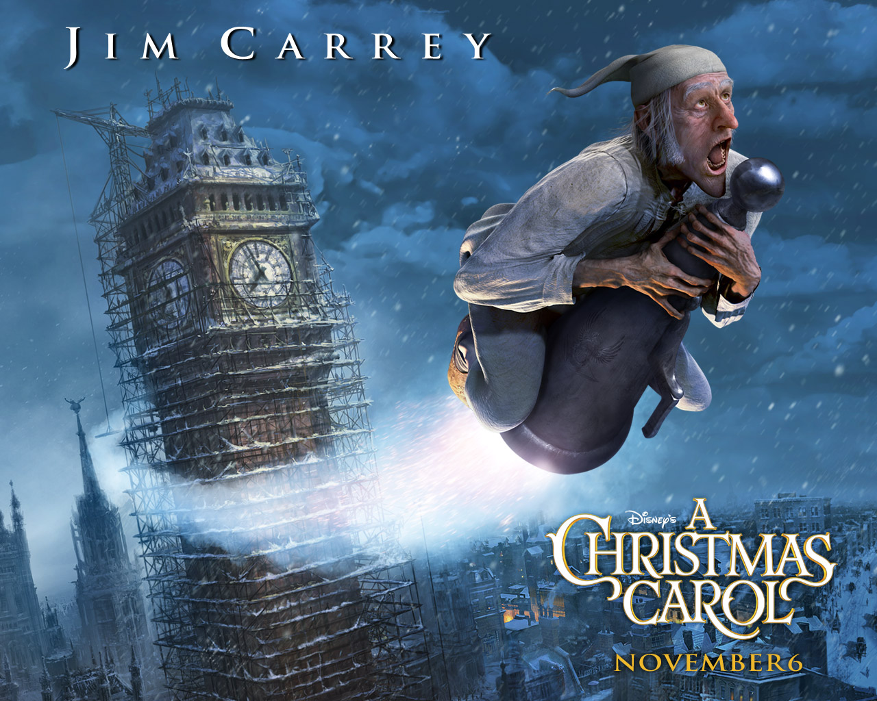 Christmas Carol Jim Carrey.Christina A Christmas Carol With Jim Carrey