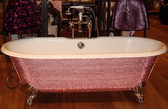 Rose Quartz Crystal Bathtub