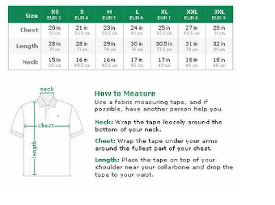 Lacoste Men's Men's Size Size ChartCaddzoom Lacoste Ygyv76bf