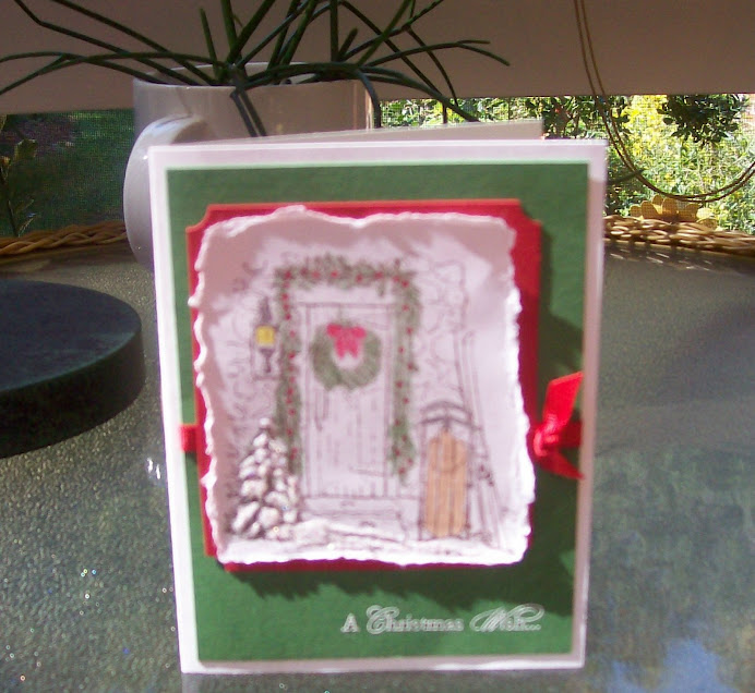 Home for Christmas.... World Card Making Day class, Oct 4, 08