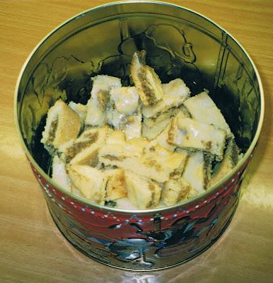 Zitronenschnitten Weihnachtsgebäck.Doris Kochbuch Plätzchen