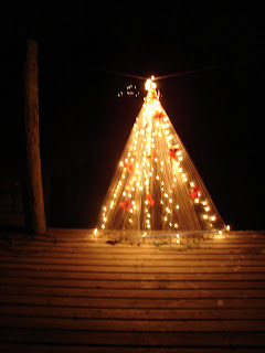 this makes a perfectly divine christmas tree one that is basically weather resistant and sturdy enough - Christmas On The Bayou Cast