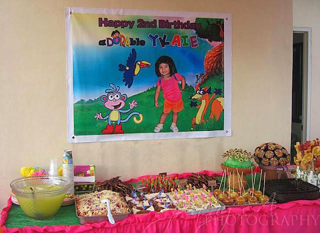 Ykaie S 2nd Birthday Dora Garden Party The Peach Kitchen