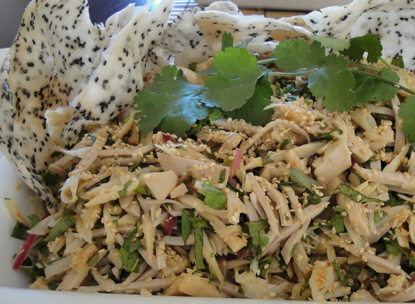 Young Jackfruit And Lotus Root Salad With Chicken Feet And