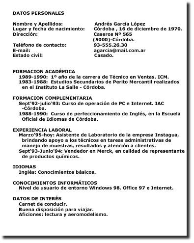 El Curriculum Vitae La Materia Paseante Modelos Textuales