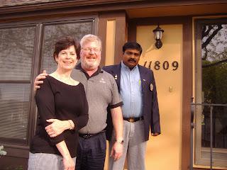 2006-07GSERotary3140: Sudeep, his hosts Team Leader 5710 David