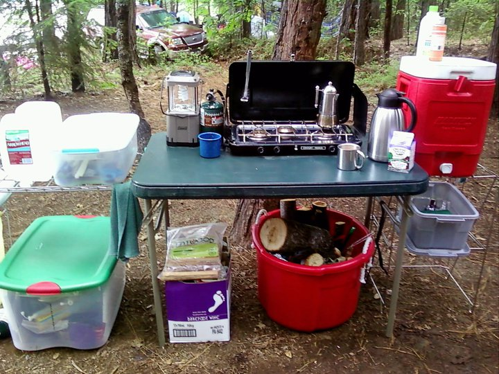 First camptrip review - Kitchen set up ideas ...