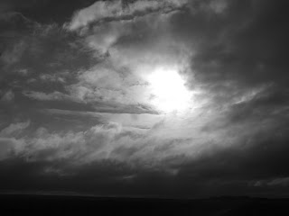 sky in black and white