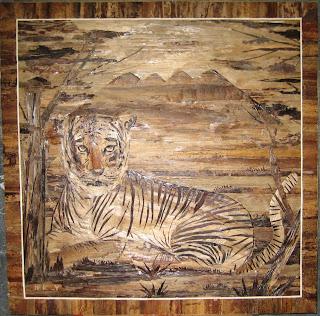 Lukisan Pelepah Pisang unikdan bernilai seni tinggi