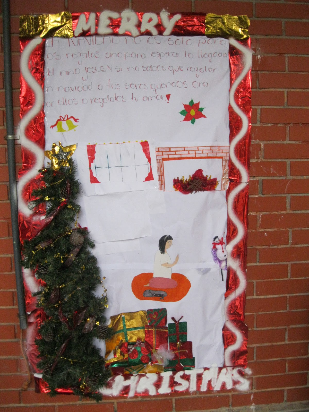 Our Little Roses News Christmas Door Decorating Contest