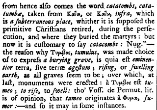 Etymology of tomb « English Words of (Unexpected) Greek