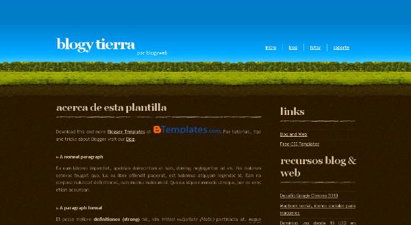 Nature Theme Blogspot Template