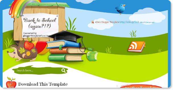Education Blogspot Template