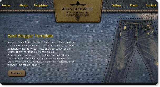 Jeans Blogspot Template