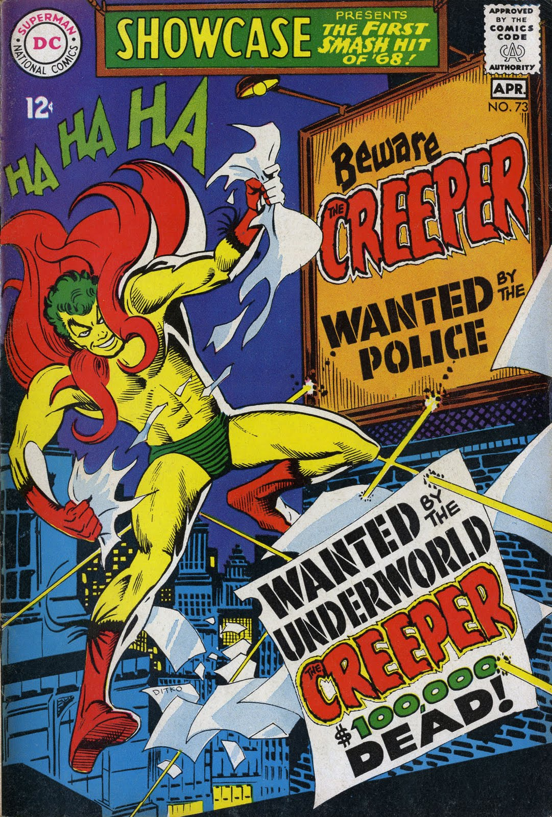 The 73 Best African Beautiful Images On Pinterest: Silver Age Comics: Showcase #73: The Creeper Becomes DC's