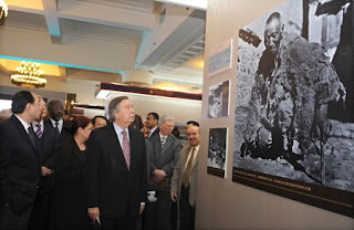 Foreign diplomats obediently trotting through this exhibition and imbibing some of the most gratuitous propaganda and denigration of Tibetans.