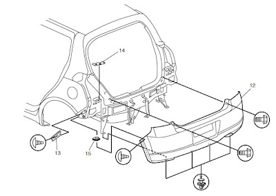 psychokid M15A: Front & rear bumper assembly for swift