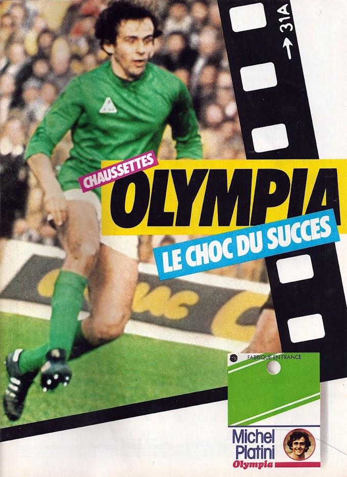 PUB. Olympia. Michel Platini.