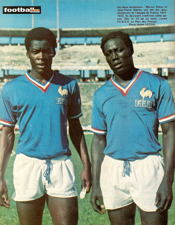 MARIUS TRESOR/JEAN-PIERRE ADAMS. La garde noire de l'équipe de France.