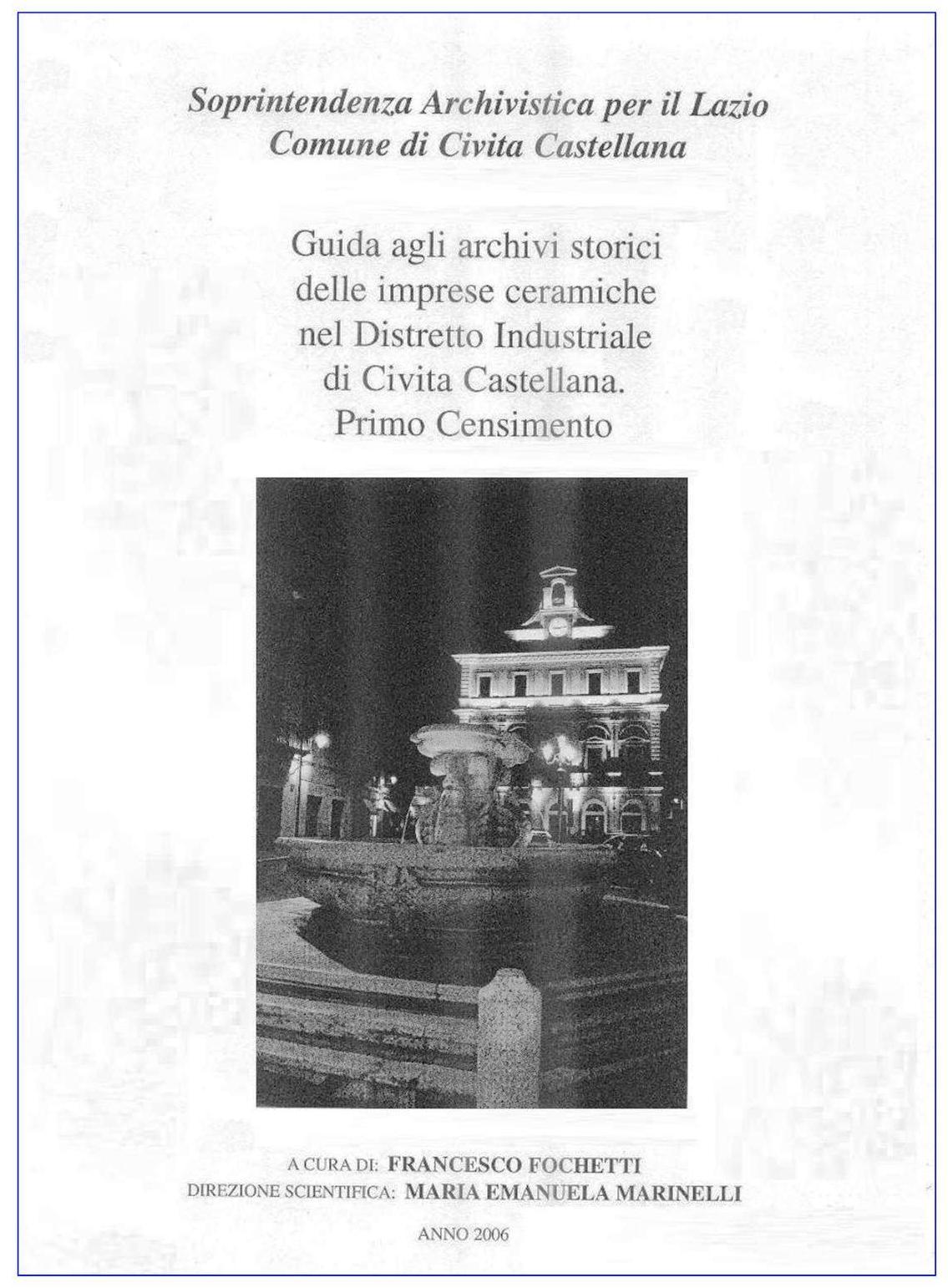 Area Ceramica Civita Castellana.Archivio Multimediale Della Biblioteca Comunale Censimento Degli