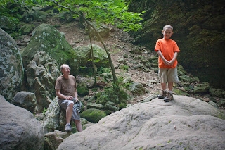 Daniel and Papa at Eden Falls