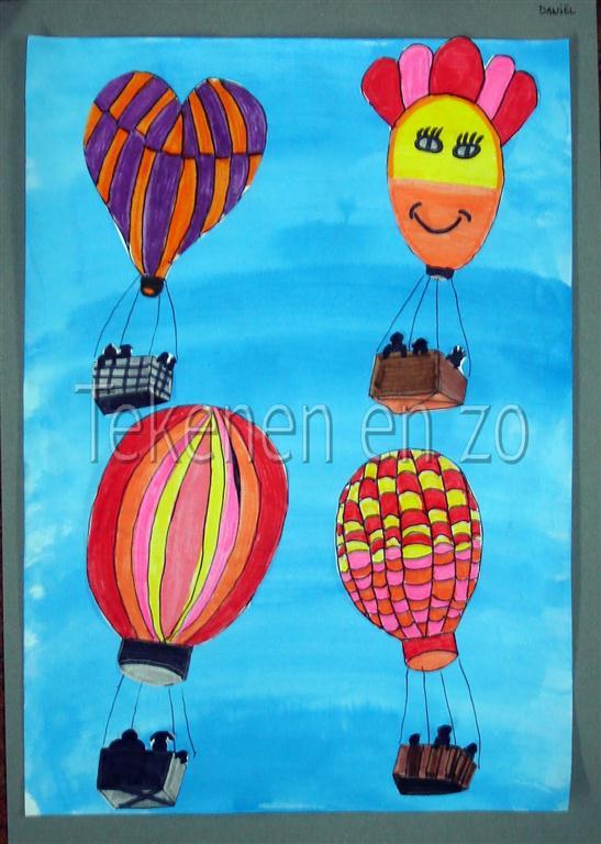 Tekenen en zo Heteluchtballonnen