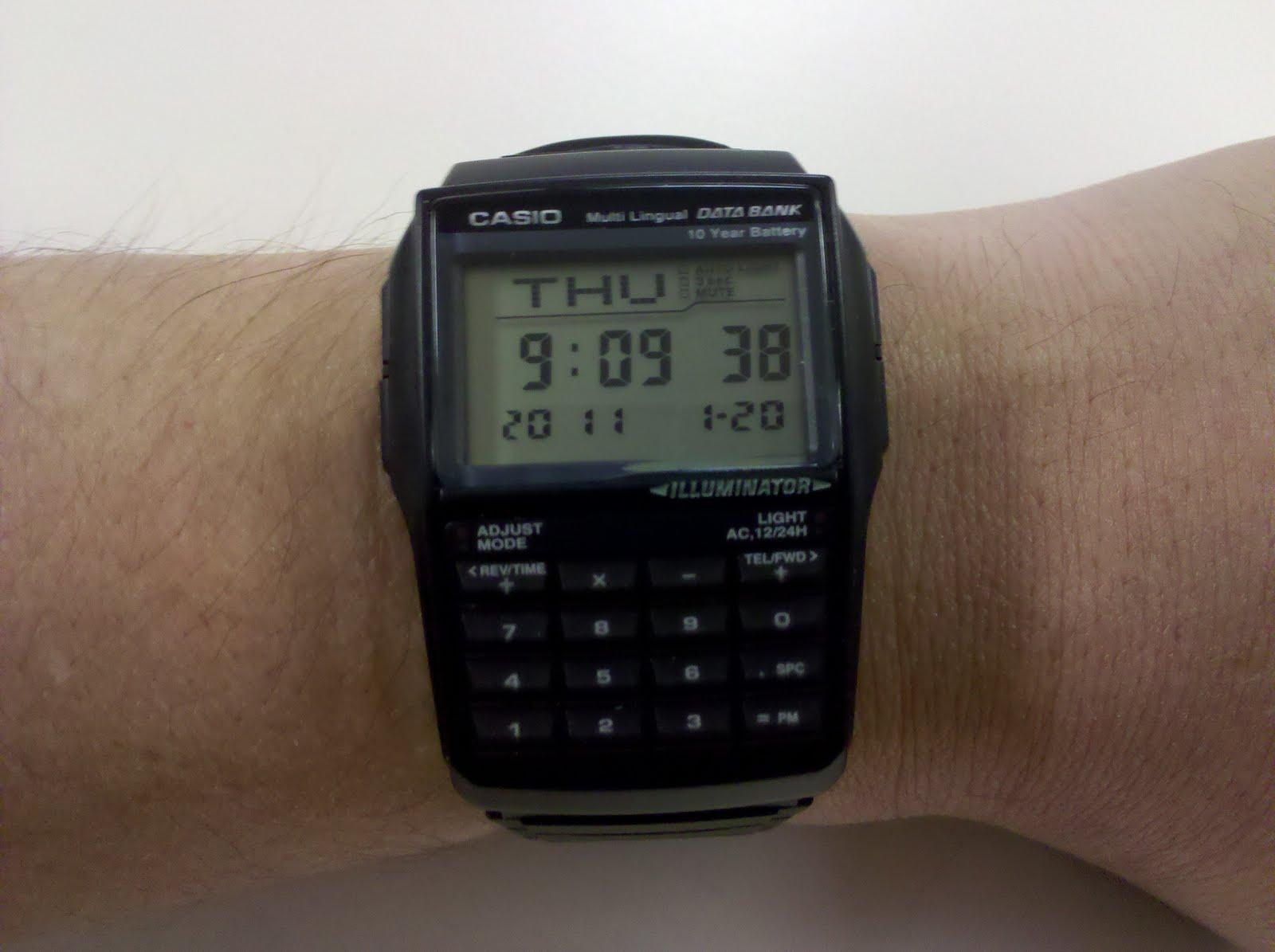 My Watch Of The Day Casio Dbc 32 Calculator Databank Watch