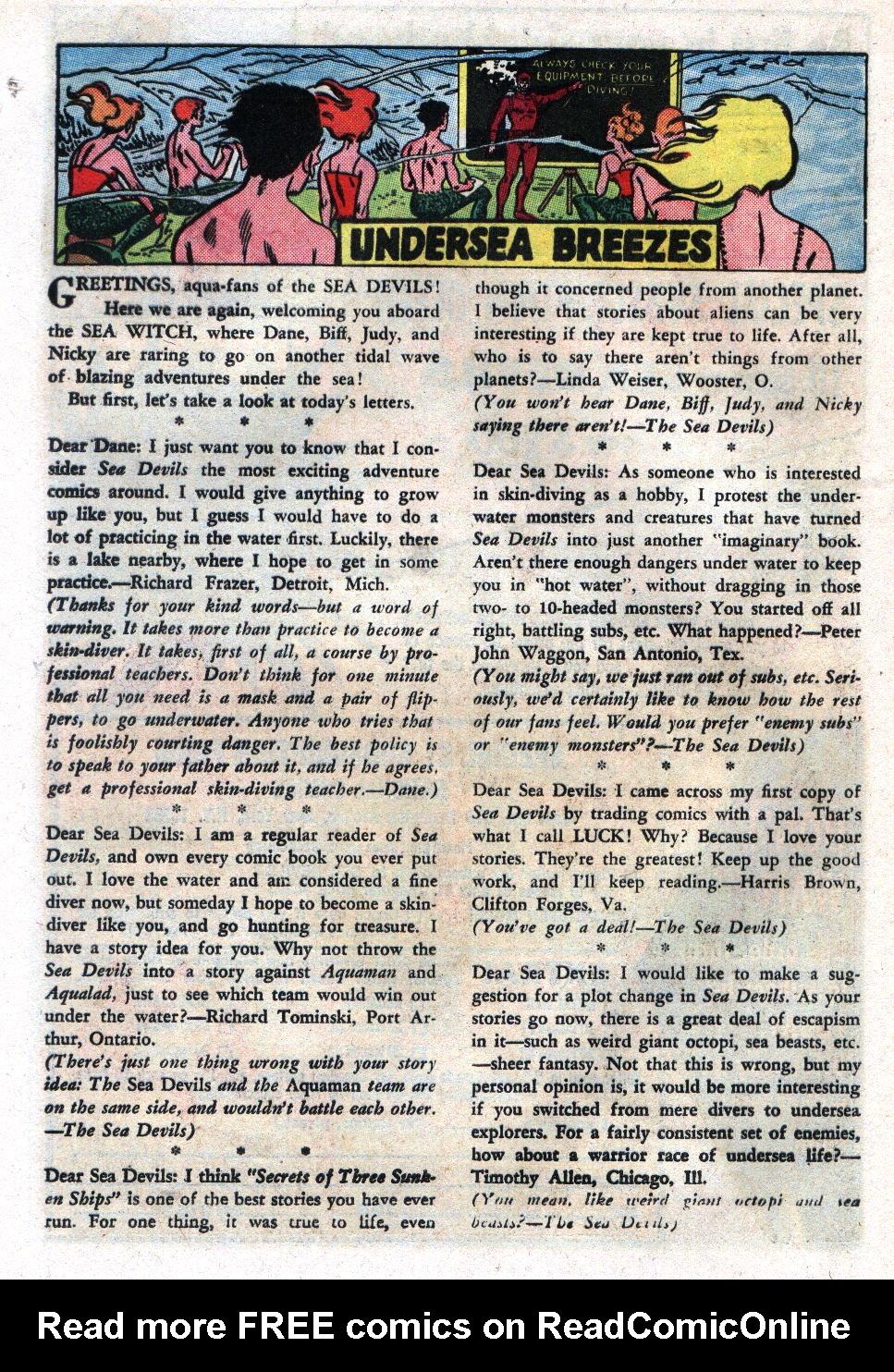 Read online Sea Devils comic -  Issue #17 - 24