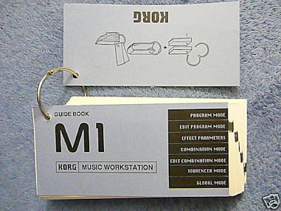 MATRIXSYNTH: RARE Synth BOOK Korg M1 Guide Book