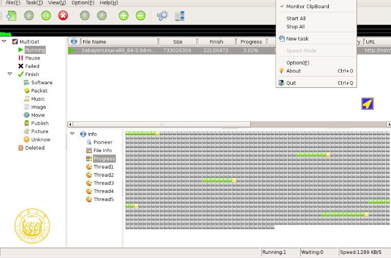 5 Fastest Linux Download Manager/Accelerator Program
