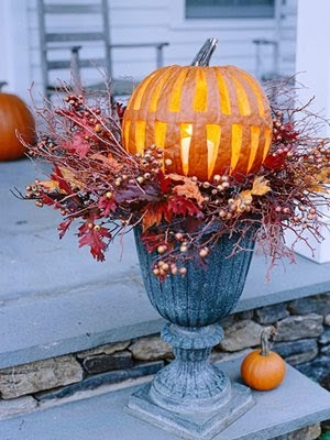 Silver Trappings Fall Porch Decorating