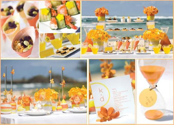 Wedding Ideas For Summer: NicolaRobyn Events: Wedding Colors: Orange And Yellow