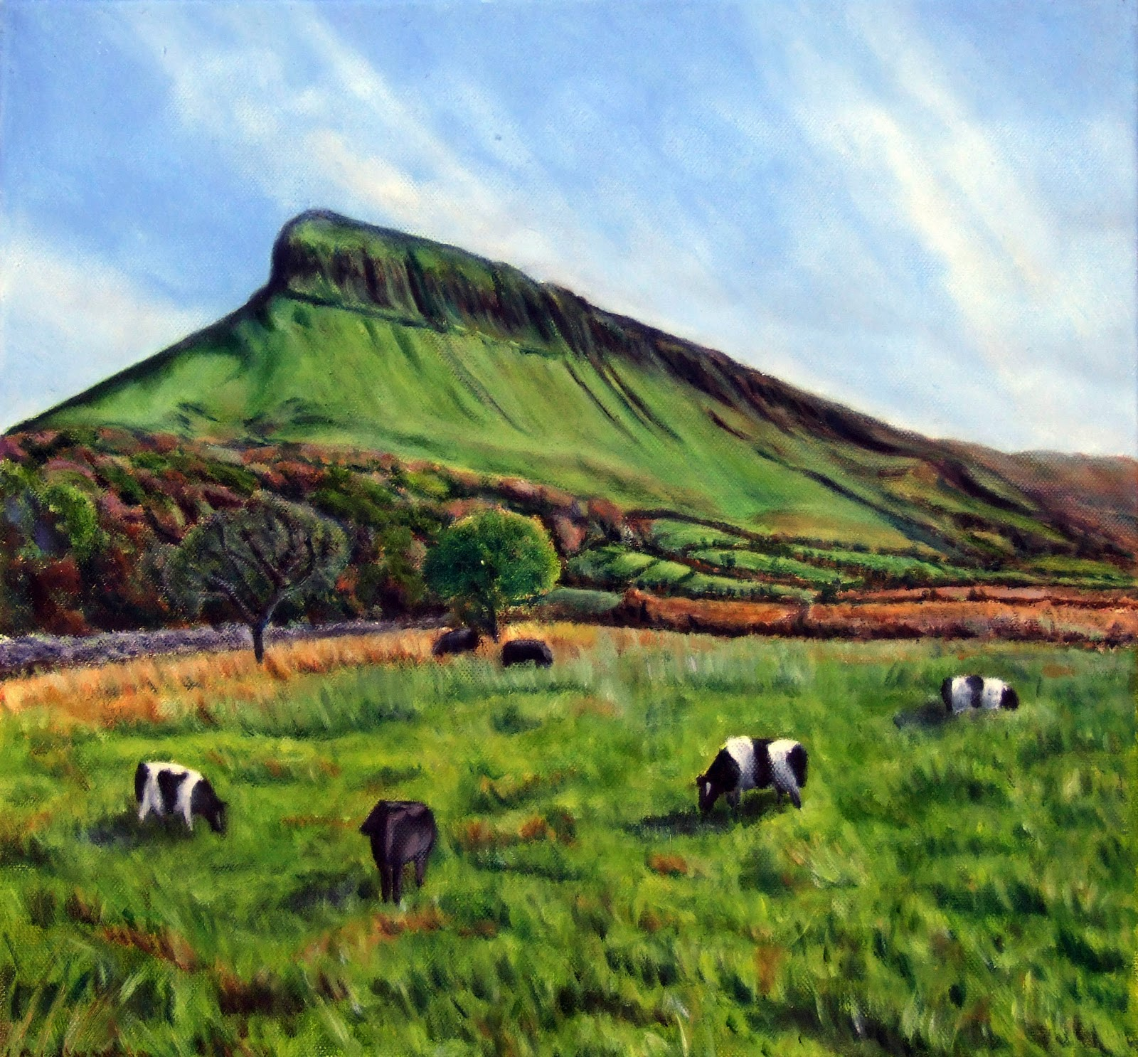 Ben Bulben in Sligo as oil painting